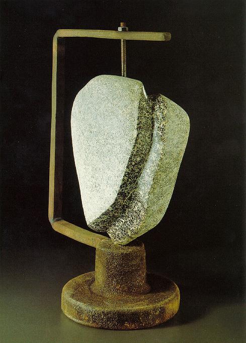 """""""Schizophrenie"""", Granit, Eisen, 1988, 48 x 36 cm"""