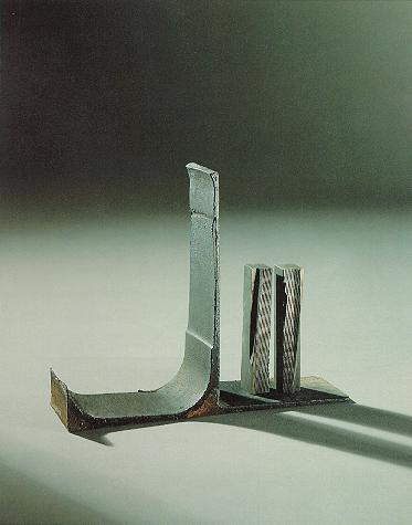 """""""Spiel für zwei"""", Eisen, Stahl, 1990, 18 x 32 x 10 cm"""