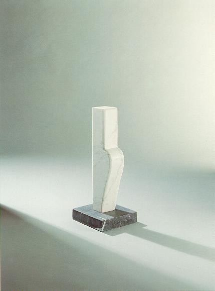 """Figurine"", weißer Marmor aus Carrara, 1990, 80 cm"