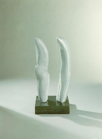"""Tanzende Formen"", grauer Marmor, Granit, 1990, 120 cm"