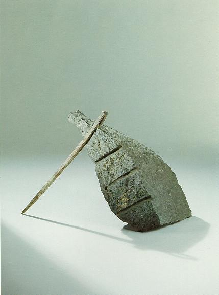"""Balance"", Diabas, Eisen, 1991, 50 cm"