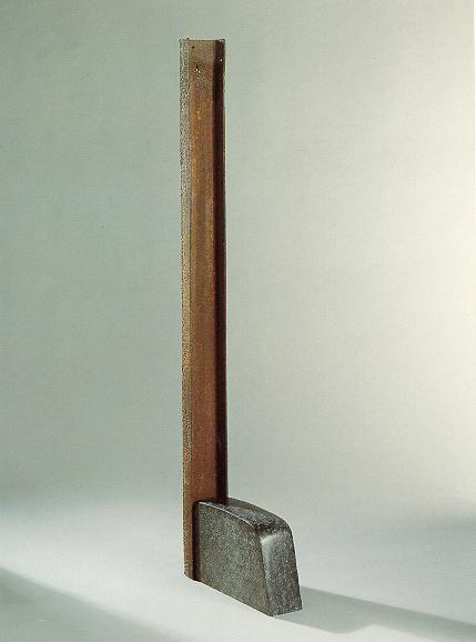 """Widerstand"", Hoeschprofil , Diabas, 1991 165 cm"
