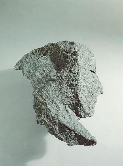 """""""Kopf"""", Diabas, 1991, 80 cm"""